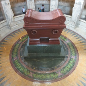 Inside the sarcophagus are four other sarcophagi and then Napoleon Bonaparte's ashes.