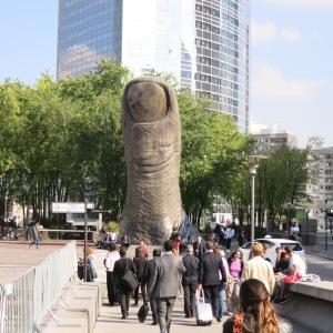 Public art giving itself a thumbs up.