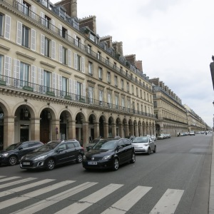 When Haussmann was tasked with cleaning up Paris, he constructed many large straight avenues and determined buildings should have continuity across blocks with external balconies on the same floors.