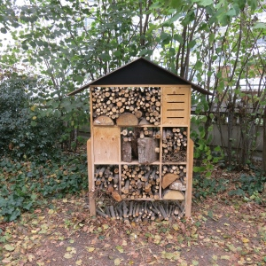 We saw many insect habitats scattered around the city, mostly in parks.