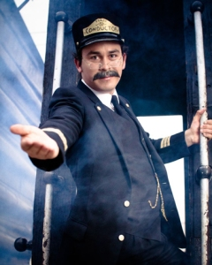 Our friendly train conductor