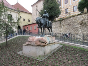 Throughout our journey in Europe, we have seen statues of St. George killing or having killed the dragon. If you don't know the story, Wikipedia has a good overview.