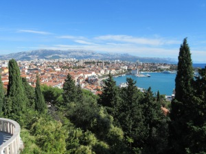 Split and its harbor.