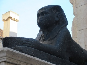 Diocletian had about a dozen sphinxes brought from Egypt for his palace. They are estimated to be 4000 years old.