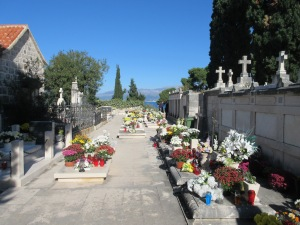 November 1 is All Souls Day and Croatians celebrated by taking flower and candles to the graves of family members.