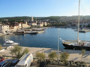 The harbor of Supetar on the island of Brač, as we came in on the ferry.
