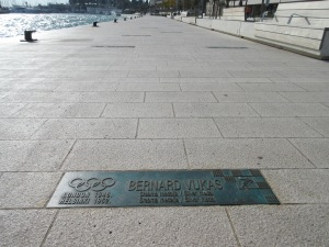 Split claims an unusual number of Olympic medals for its size. This walkway has 73 plaques with the names of athletes from Split who have won Olympic medals.