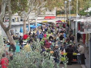 The green market that is about two minutes from our place. You're seeing about a sixth of it in this picture!