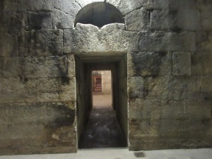 Passage in the cellar under Diocletian's Palace.