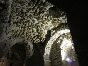 1700-year-old Roman construction is very sturdy but shows signs of time passing in the cellars.