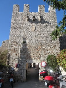One of the gates into Hvar town. The fat gates cracked us up.