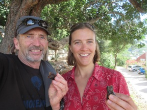 Following the guidance of locals we picked carob pods off the tree and had a nice snack.