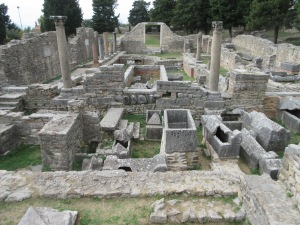 Ruins of a 4th century basilica in Salona.
