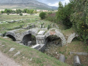 Salona. This five arched bridge crossed a river when it was built 2000 years ago.