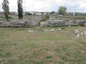 Salona's theater and forum, the oldest center of this Roman city, now have front-row seats to the freeway.