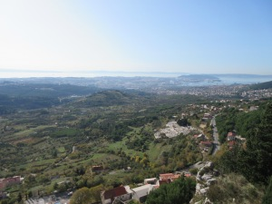 View from Klis fortress overlooking Split and the Adriatic.