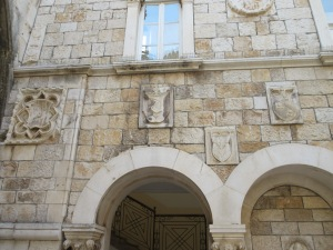 Trogir Town Hall became a central collection point for decorations from old homes.