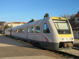 The train we took to Zagreb is a German-engineered tilting high-speed train.