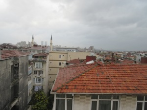 The place we were staying had a terrace. Istanbul today has 17 million inhabitants!