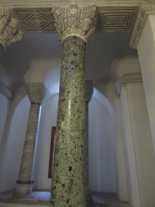 Beautiful columns and detailing are common sights. Here they are in Little Hagia Sophia, built about 520.