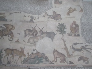 The Mosaic Museum shows pieces of a 1500-year old mosaic from an enormous palace courtyard.