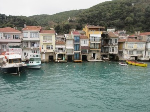 In this village at the north end of the Bosphorus boat garages allow fisherman to park in their house.