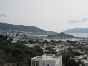 Bodrum. The castle splits the bay in two.