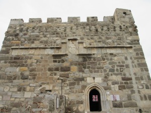 The Bodrum castle has many knights' crests. You can see over 20 of them on this tower wall.