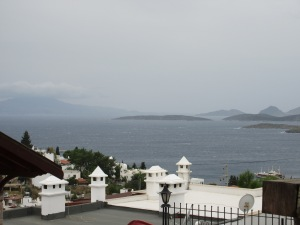 One of the rare stormy days we've had in Bodrum.
