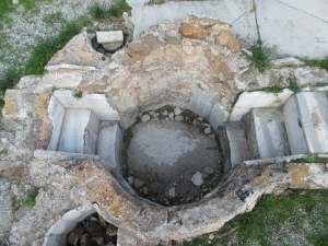 An ancient Roman hot tub on Kos.