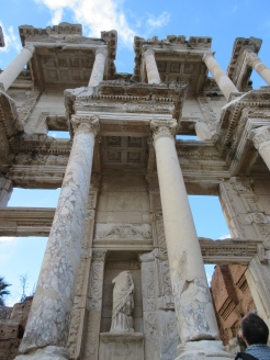 Celsus Library, looking up.