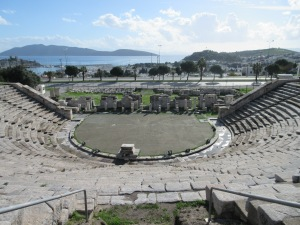 The ancient Greek theater in Bodrum.
