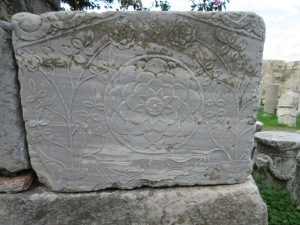 Delicate carved stone in the Kos Castle