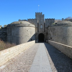 One of the entrances to the medieval walled city of Rhodes.