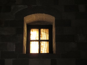 Many of the small windows in the Palace of the Grand Master are made from stone instead of glass.