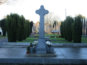 Michael Collins' grave in Glasnevin Cemetery.