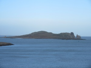 The Eye of Ireland island, as seen from Howth.