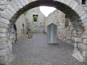 Old church in Dalkey. Wealthy folks were buried in the church after it fell to ruins because the neighboring graveyard was full.