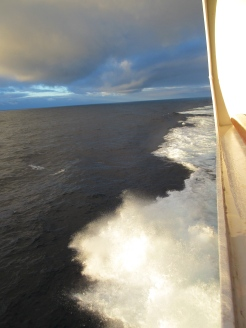 Our average speed was between 15-22 knots.