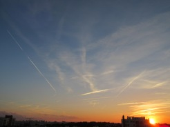 Man-made clouds: contrails