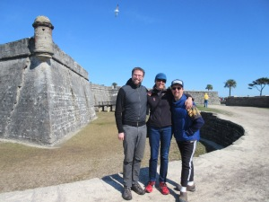 The three siblings at Castillo de San Marcos, Saint Augustine.