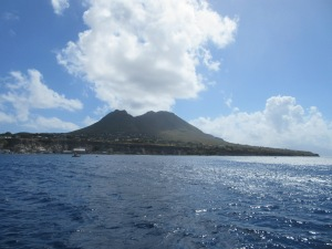 The jagged dormant volcano on Statia.