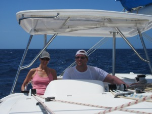 Megan and Krister. We alternated days at the helm.