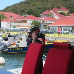 On a photo shoot with Jackson in Gustavia.
