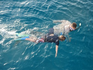 Snorkeling right off the boat.