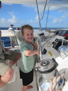 Captain Jackson at the helm.