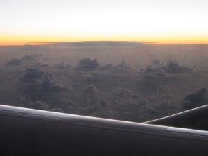 Fantastic cloud castles seen on the flight home.